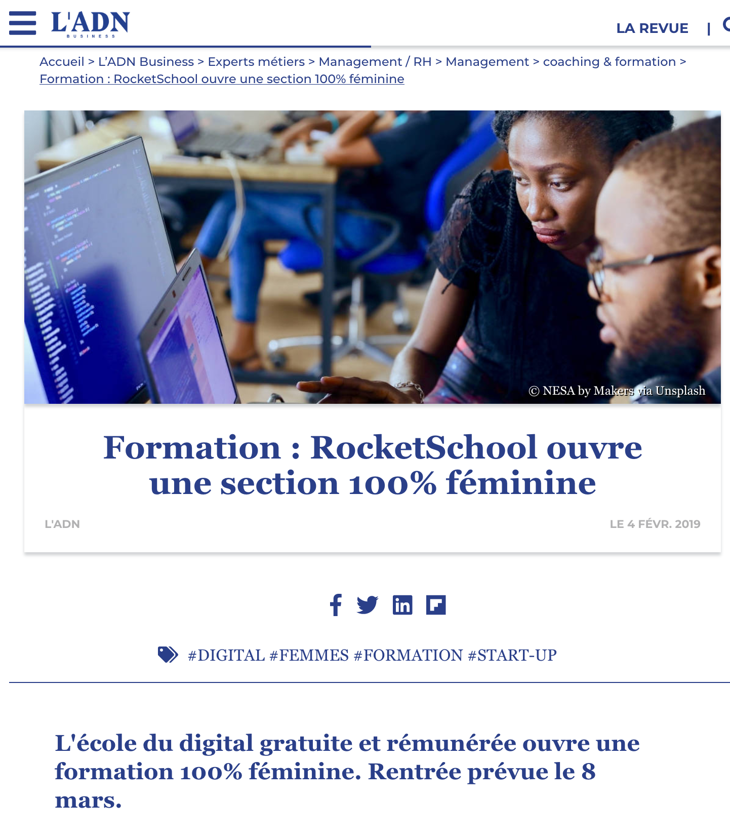 Formation : RocketSchool ouvre une section 100% féminine
